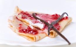τηγανίτα μαρμελάδας Στοκ Εικόνες