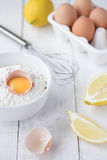 τηγανίτα συστατικών Στοκ Φωτογραφίες