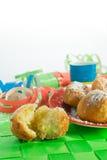 Τηγανίτες καρναβαλιού με μορφή της σφαίρας Στοκ Εικόνες