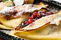 τηγανίτες μούρων Στοκ Φωτογραφία