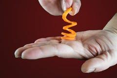 Τηγανητά γλυκών πατατών Spiralizer Στοκ Φωτογραφία