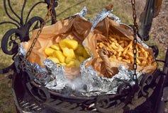 Τηγανητά πατατών Στοκ Εικόνες