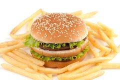 τηγανητά hamburguer Στοκ εικόνες με δικαίωμα ελεύθερης χρήσης