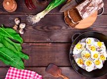 Τηγανισμένα αυγά από τα αυγά ορτυκιών Στοκ φωτογραφία με δικαίωμα ελεύθερης χρήσης