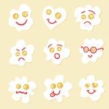 Τηγανισμένα αυγά emoticons Στοκ Φωτογραφία