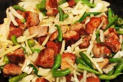 τηγανισμένα λαχανικά κρέατος Στοκ φωτογραφία με δικαίωμα ελεύθερης χρήσης
