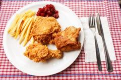 Τηγανισμένο κοτόπουλο Στοκ Εικόνες