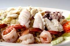 τηγανισμένα θαλασσινά ρυ&ze στοκ φωτογραφίες