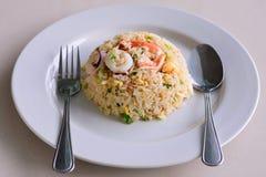τηγανισμένα θαλασσινά ρυζιού στοκ εικόνα