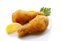τηγανισμένα κοτόπουλο πό&delt Στοκ Εικόνες