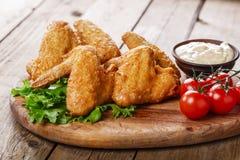 τηγανισμένα κοτόπουλο φτ στοκ φωτογραφίες