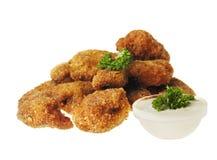 τηγανισμένα κοτόπουλο ψή&gam στοκ φωτογραφία με δικαίωμα ελεύθερης χρήσης