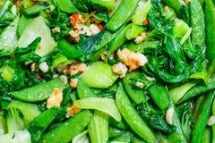 Τηγανισμένα λαχανικά με τις γαρίδες Στοκ εικόνα με δικαίωμα ελεύθερης χρήσης