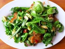 Τηγανισμένα λαχανικά Thaifood στοκ εικόνες