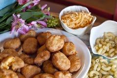 Τηγανισμένα μακαρόνια και τυρί Στοκ φωτογραφίες με δικαίωμα ελεύθερης χρήσης