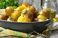 Τηγανισμένα μανιτάρια πατατών '' Στοκ Εικόνες
