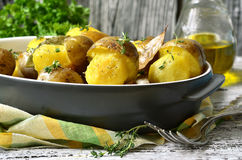 Τηγανισμένα μανιτάρια πατατών '' Στοκ Εικόνα