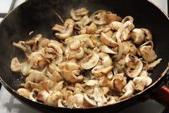 τηγανισμένα μανιτάρια Στοκ Φωτογραφία