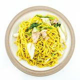 Τηγανισμένα νουντλς ιαπωνικά Στοκ εικόνα με δικαίωμα ελεύθερης χρήσης