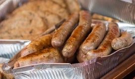 Τηγανισμένα λουκάνικα κρέατος Στοκ φωτογραφίες με δικαίωμα ελεύθερης χρήσης