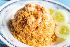 τηγανισμένα πικάντικα θαλασσινά ρυζιού Στοκ Φωτογραφία