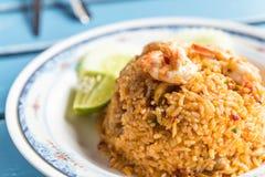 τηγανισμένα πικάντικα θαλασσινά ρυζιού Στοκ φωτογραφίες με δικαίωμα ελεύθερης χρήσης
