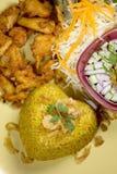 Τηγανισμένα τα Kgawhmk τρόφιμα κοτόπουλου διακοσμούν Στοκ Εικόνες