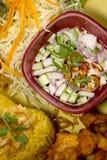 Τηγανισμένα τα Kgawhmk τρόφιμα κοτόπουλου διακοσμούν Στοκ Εικόνα
