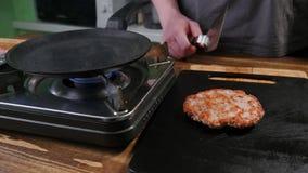 Τηγανισμένα τηγάνι patties στοκ εικόνα με δικαίωμα ελεύθερης χρήσης