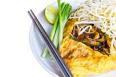 Τηγανισμένα τρόφιμα Ταϊλάνδη της Ταϊλάνδης νουντλς Στοκ Εικόνα