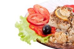 τηγανισμένα ψάρια μανιτάρια & Στοκ φωτογραφία με δικαίωμα ελεύθερης χρήσης