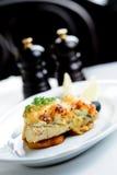 Τηγανισμένα ψάρια με το τυρί Στοκ φωτογραφίες με δικαίωμα ελεύθερης χρήσης