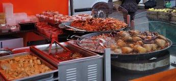 Τηγανισμένα ψάρια στην παλαιά αγορά Στοκ εικόνα με δικαίωμα ελεύθερης χρήσης