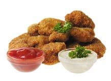 Τηγανισμένα ψήγματα κοτόπουλου στοκ φωτογραφία με δικαίωμα ελεύθερης χρήσης