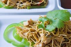 τηγανισμένα noodles στοκ εικόνα