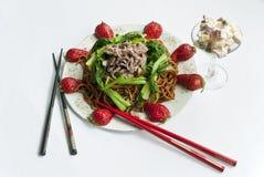 τηγανισμένα noodles Στοκ εικόνες με δικαίωμα ελεύθερης χρήσης