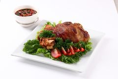 Τηγανισμένες αρθρώσεις χοιρινού κρέατος Στοκ Εικόνα