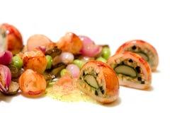 τηγανισμένες αυγό νησοπέρδικες Στοκ Εικόνες