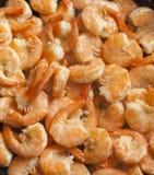 Τηγανισμένες γαρίδες με το σκόρδο Στοκ Εικόνες