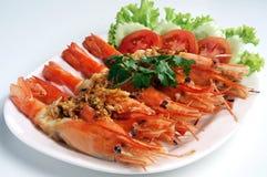 τηγανισμένες γαρίδες πιπ&ep στοκ φωτογραφία