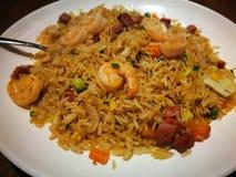 τηγανισμένες γαρίδες ρυζιού στοκ εικόνες