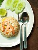 τηγανισμένες γαρίδες ρυ&ze Στοκ εικόνα με δικαίωμα ελεύθερης χρήσης
