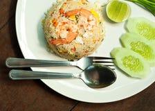 τηγανισμένες γαρίδες ρυ&ze Στοκ εικόνες με δικαίωμα ελεύθερης χρήσης