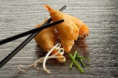 τηγανισμένες γαρίδες Στοκ φωτογραφίες με δικαίωμα ελεύθερης χρήσης