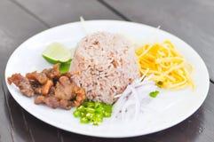 τηγανισμένες γαρίδες ρυζιού συρραφών Στοκ Εικόνες