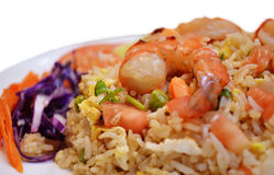 τηγανισμένες γαρίδες ρυζιού Στοκ εικόνες με δικαίωμα ελεύθερης χρήσης