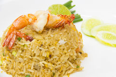 τηγανισμένες γαρίδες ρυ&ze Στοκ Εικόνες