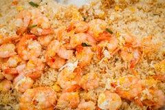 τηγανισμένες γαρίδες ρυ&ze Στοκ Εικόνα