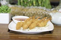 τηγανισμένες γαρίδες Στοκ Εικόνα