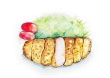 Τηγανισμένες ιαπωνικές μορφές χοιρινού κρέατος Στοκ Φωτογραφία